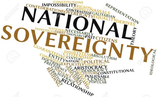 Word cloud with National and Sovereignty being the 2 largest words in the cloud.