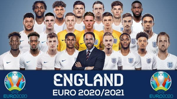 Photo of the entire England team for Euro 2020